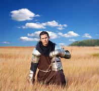 Medieval knight - stock photo