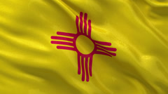 US state flag of New Mexico - seamless loop Stock Footage