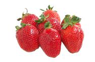 Group of strawberry isolated Stock Photos