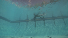 Freediving course playtime, swimming pool, underwater, HD, UP29119 Stock Footage