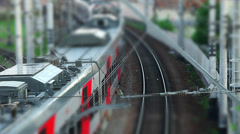 Motion  Electric Train tilt film Stock Footage