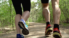 Running in Park Stock Footage