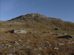 NORWAY: pan barren arctic landscape of Vinstradal valley Stock Footage