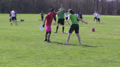 Ultimate frisbee Stock Footage