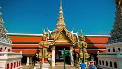 4K Hyperlapse - Emerald Buddha Temple Stock Footage