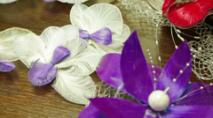 Close-up Shot of Decorations For Hair Style Stock Footage