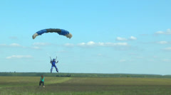 Parachute landing Stock Footage