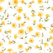 Elegant flowers fabric. Stock Illustration