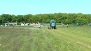 Stock Video Footage of Glider on aerodrom