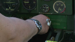 Pilot in plane Stock Footage