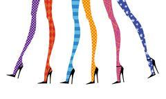 fashion legs in stiletto heels - stock illustration