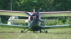 Plane on start 1 Stock Footage