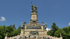 Monument Germania in Germany Stock Footage