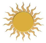 Gold sun - stock illustration