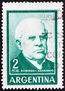 Postage stamp Argentina 1962 Domingo Faustino Sarmiento - stock photo