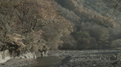 small river in japan_HDR_no-graded - stock footage
