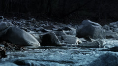 small river and rocks 3 HDR_color-graded - stock footage