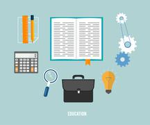 business, seo and education items icons. - stock illustration