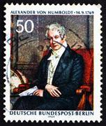 Postage stamp Germany 1969 Alexander von Humboldt, by Joseph Sti Stock Photos