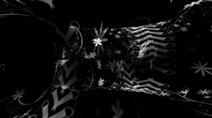 Black Flower Corset Warpcore Stock Footage