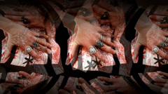 Pink Corset Hands Center Stock Footage