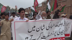 Anti Geo Protest in Peshawar, Pakistan Stock Footage