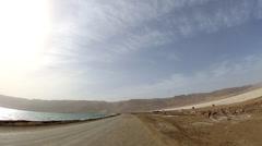Dead Sea Dyke Drive Stock Footage