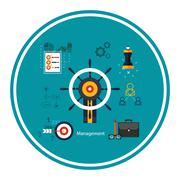 Stock Illustration of icons for management concept