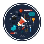 Stock Illustration of icons for marketing