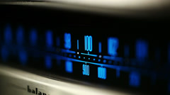 Finding FM radio station Stock Footage