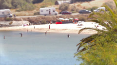 Vila Nova de Milfontes , People enjoyng the beach Stock Footage