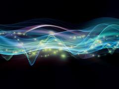 Sound visualization Stock Illustration