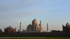Taj Mahal sunset time Lapse - stock footage