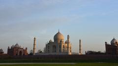 Taj Mahal sunset time Lapse Stock Footage