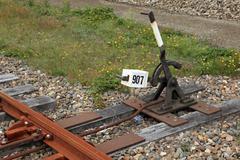 Rautatie kytkin vipu Kuvituskuvat