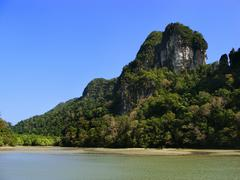 Island of the pregnant maiden lake, marble geoforest park, langkawi, malaysia Stock Photos
