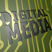 Pcb board with digital media Stock Illustration