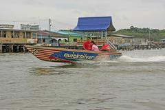 kampong ayer, bandar seri begawan, brunei, southeast asia - stock photo