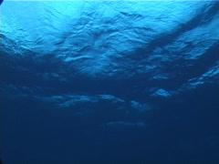 Stock Video Footage of Ocean scenery gloomy, moody, choppy seas, on water surface, at dusk, UP10855