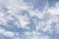 cirrus clouds - stock photo