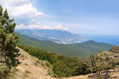 South part of Crimea peninsula, mountains Ai-Petri landscape. Uk Stock Photos
