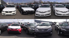 Cars, Dealership, For Sale, New and Used Stock Footage