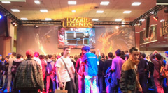 Bucharest, May The 10th, East European Comic Con, League Of Legends Stage Stock Footage