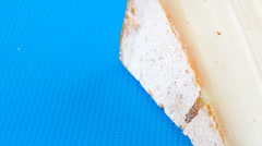 Swiss gauda cheese Stock Footage