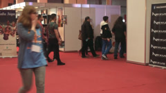 Bucharest, May The 10th, East European Comic Con, People In The Board Games - stock footage