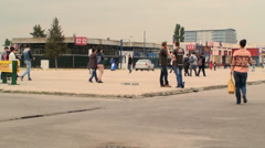 Bucharest, May The 10th, East European Comic Con, People Walking Pan Stock Footage
