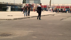 Bucharest, May The 10th, East European Comic Con, People Walking Tilt Stock Footage