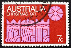 Stock Photo of Postage stamp Australia 1971 Three Kings and Star, Christmas