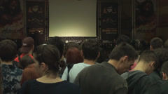 Bucharest, May The 10th, Eastern European Comic Con, People Waiting Stock Footage