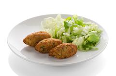 Cod fritters - stock photo